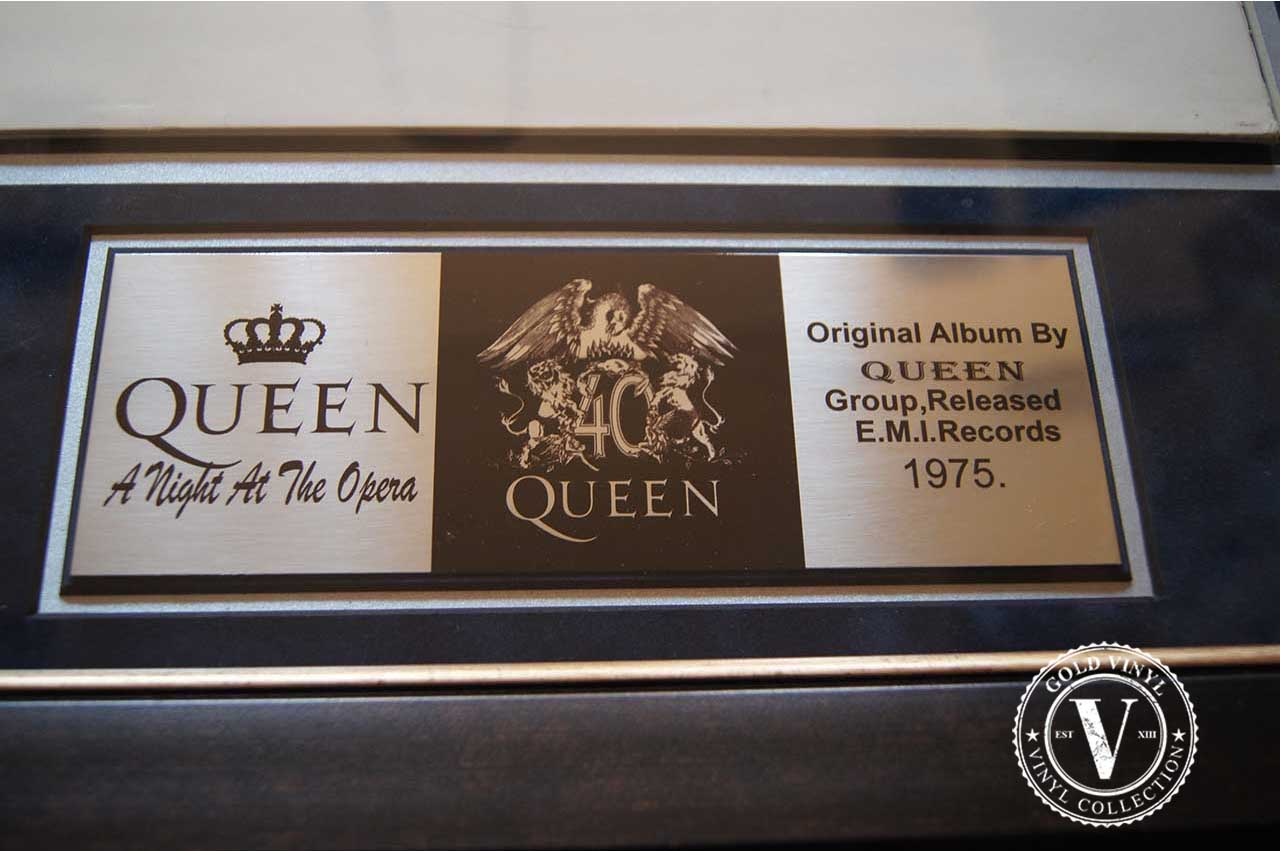 Gold Vinyl Queen A Night At The Opera